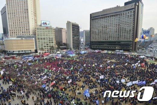 [사진]서울광장에서 열린 제4차 민중총궐기