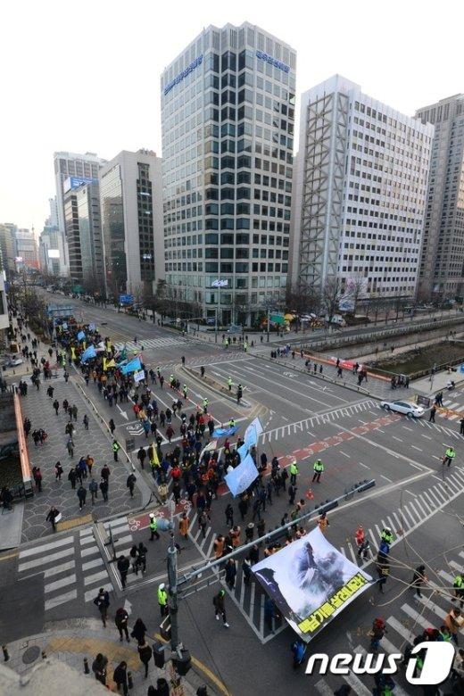 [사진]민중총궐기대회 '행진'