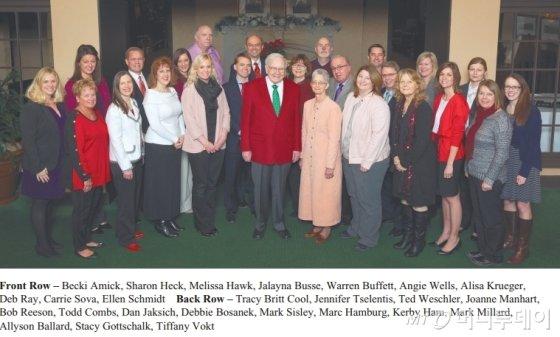 워런 버핏 버크셔 해서웨이 회장이 주주 서한에 첨부한 사진.