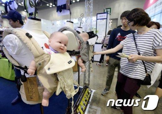 경기 고양시 일산서구 킨텍스(KINTEX)에서 열린 코리아 베이비 페어뉴스1 © News1 안은나 기자
