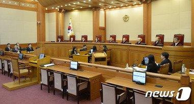 헌법재판소 대심판정/ 뉴스1 © News1 안은나 기자