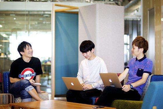 일본 스타트업 풀러 입사를 권유한 창업자들과 함께./사진제공=김영빈