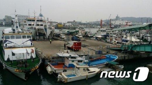 인천항연안여객터미널 모습. © News1 주영민 기자