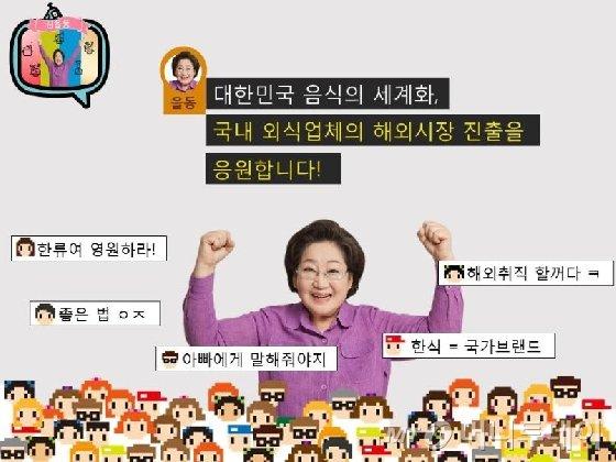 김을동 새누리당 후보가 '마이리틀텔레비전'을 패러디해 자신의 공약을 표현했다. /사진=김을동 후보 SNS 사진 캡처