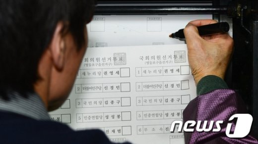 [사진]투표용지 '꼼꼼하게 확인'