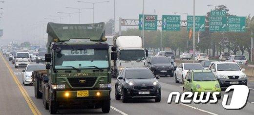 [사진]한해 가장많은 차량이 통행하는 자유로