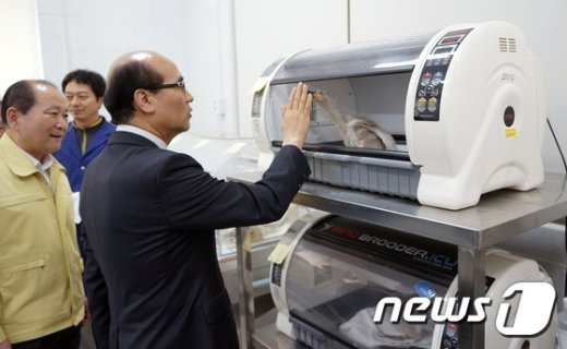 [사진]따오기 복원현장 살펴보는 정연만 차관