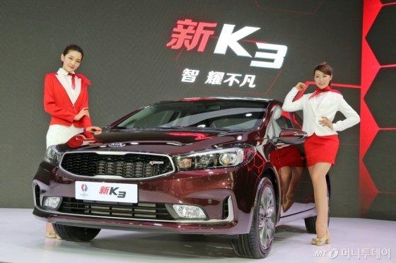 기아자동차가 베이징모터쇼에서 공개한 K3터보./사진제공=기아자동차