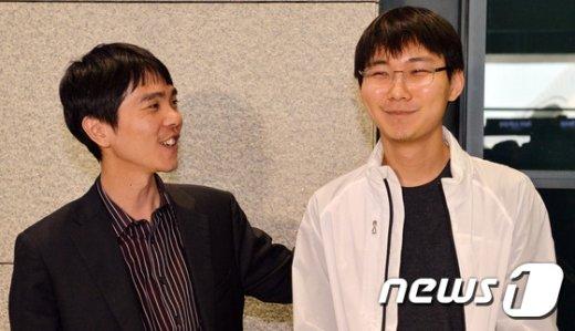 [사진]응씨배 준결승 진출한 이세돌9단과 박정환 9단