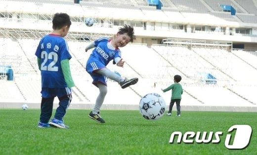 [사진]'내 슛을 받아라!'