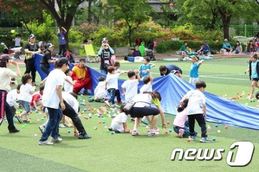종로구 어린이운동회(종로구 제공)© News1