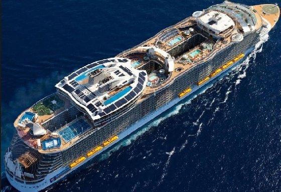 전 세계서 가장 큰 유람선 '바다의 하모니' 처녀 항해