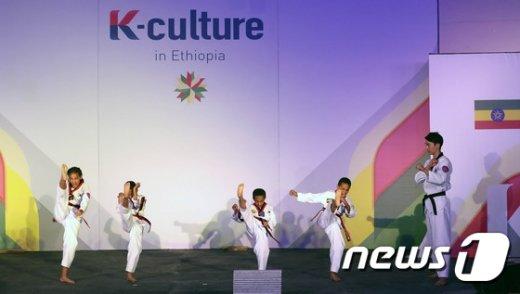 [사진]에티오피아 어린이들의 태권도 시범