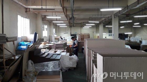 경기도 포천의 세양침대 생산공장 현장 모습 /사진=조철희 기자