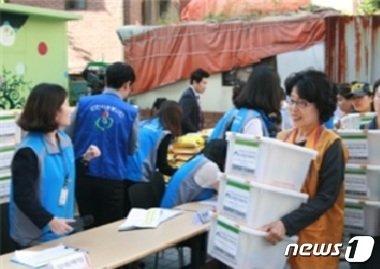 서울시 나눔이웃 나눔봉사 활동(서울시 제공)© News1