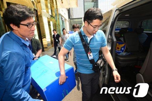 [사진]구의역 사망사고 관련 유진메트로컴 압수수색