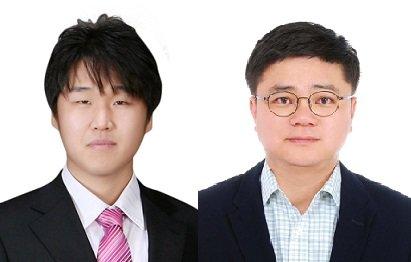 왼쪽부터 박철민, 전기준 교수