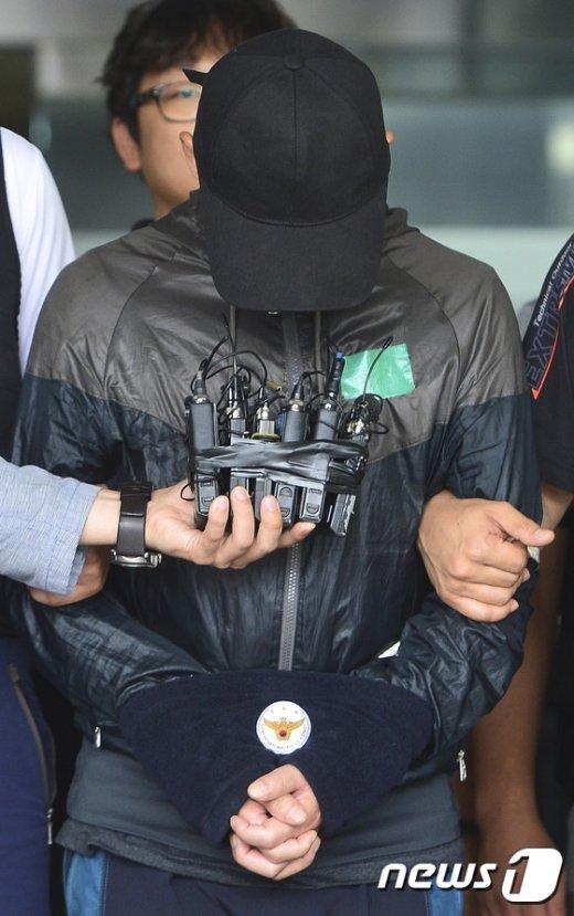 [사진]고개 숙인 사패산 살인사건 피의자