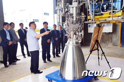 [사진]나로우주센터 방문한 최양희 장관