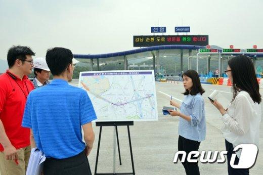 [사진]언론에 공개되는 강남순환로
