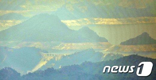[사진]'장마 앞둔 금강산댐의 수위는?'