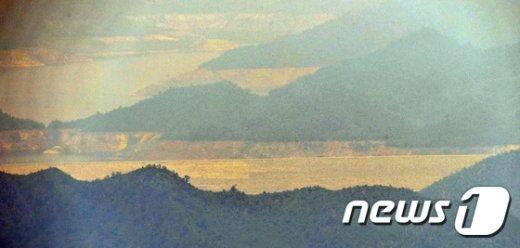 [사진]장마 앞둔 북한 금강산댐