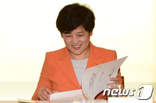 [사진]강은희 장관, 여성폭력 예방 관련 여성단체 대표자 회의 참석