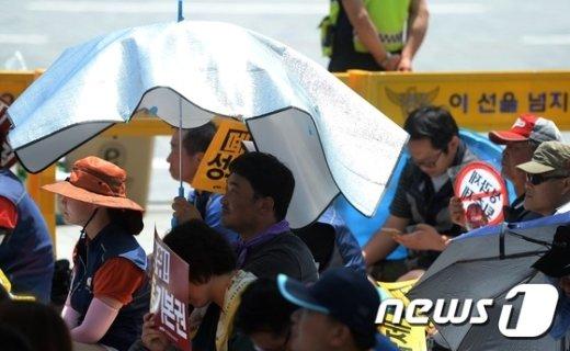 [사진]'돗자리 우산'