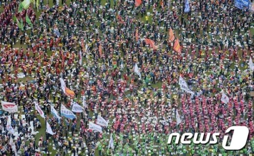[사진]민주노총 전국노동자대회