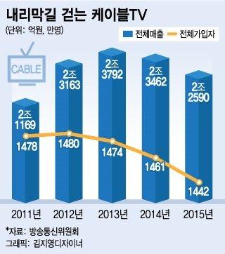 케이블TV '자발적 생존' 출구막은 공정위
