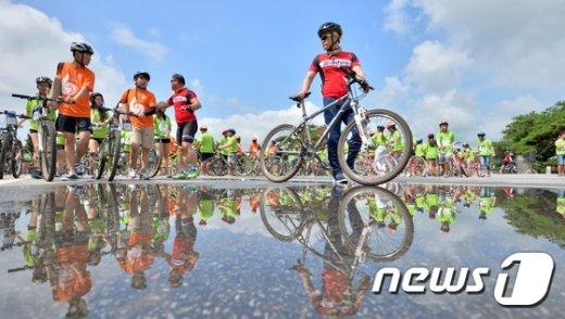 [사진]'DMZ 자전거 대행진 기대되요'