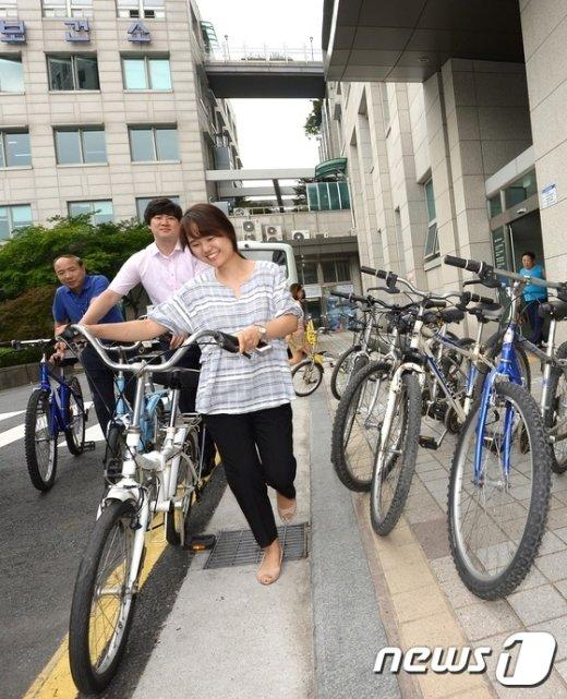 [사진]'착한 자전거 기증하니 기분도 좋아요'