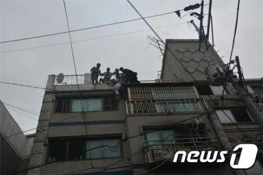사고현장모습. (서울 구로소방서 제공) © News1