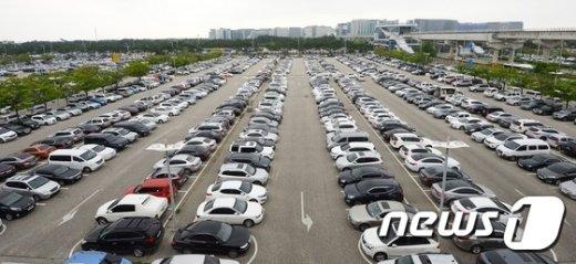 [사진]주차장도 가득찬 인천공항