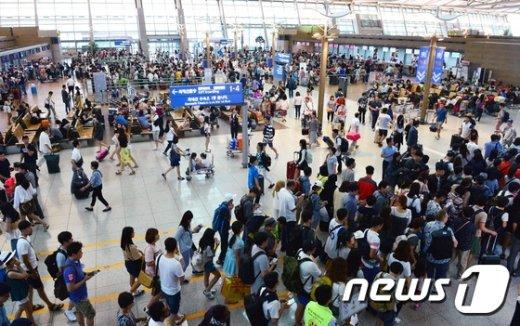 [사진]'바쁜 인천국제공항'