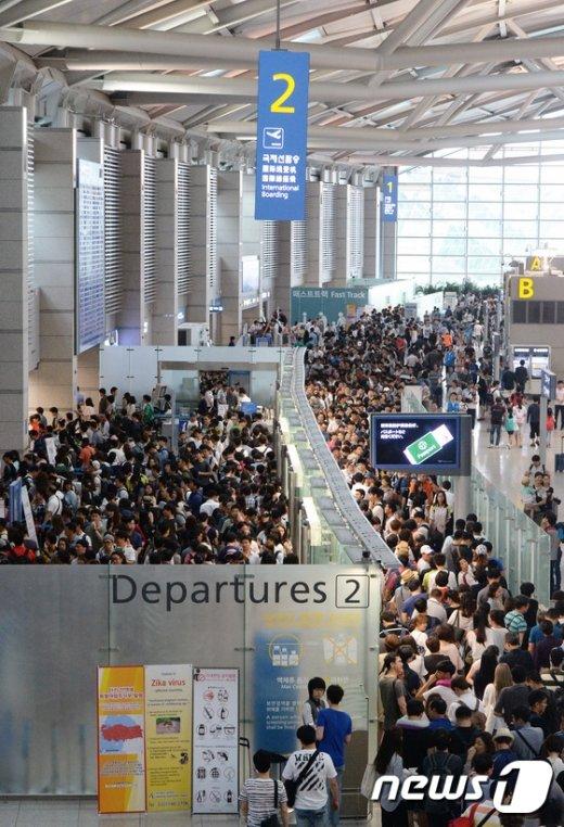 [사진]인천공항 이용객수 역대 1위 갱신
