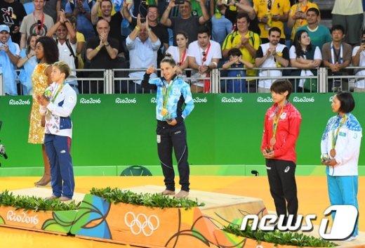 [사진]유도 여자 48kg급 금메달 주인공은 '파울라파레토'