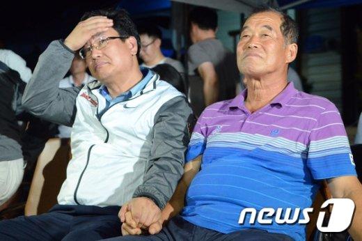 [사진]씁쓸한 모습의 진종오 선수의 아버지