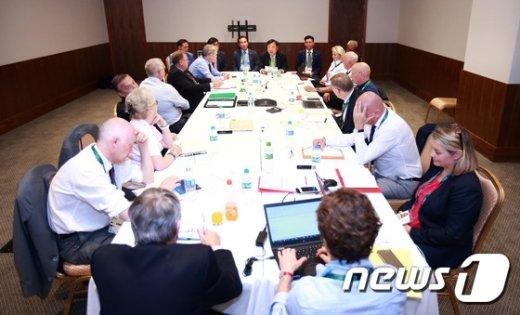 [사진]동계올림픽종목협의회(AIOWF), 리우에서 회의
