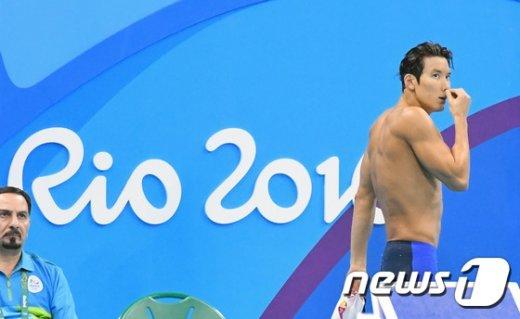 [사진]박태환, 자유형 200m 6조 충격의 최하위 기록