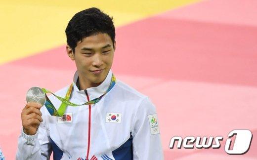 [사진]안바울 , 유도 -66kg 은메달 획득