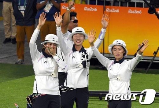 [사진]여자 양궁 '단체전 올림픽 8연패'