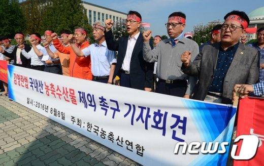 [사진]김영란법 농축산물 제외 촉구 기자회견