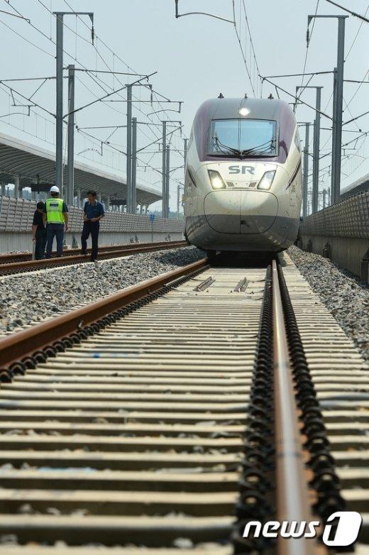 [사진]SRT '시범운행 준비 완료'