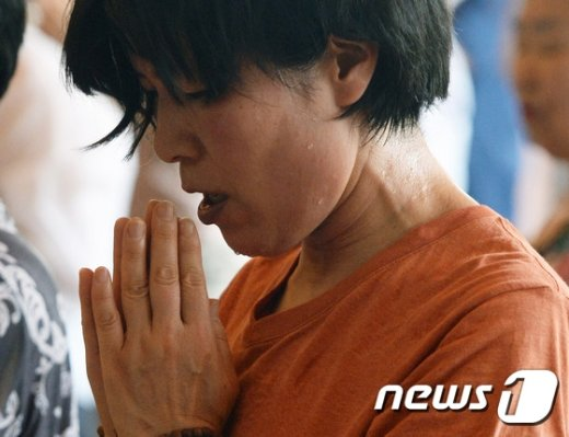 [사진]'우리 아들 수능 잘보길'