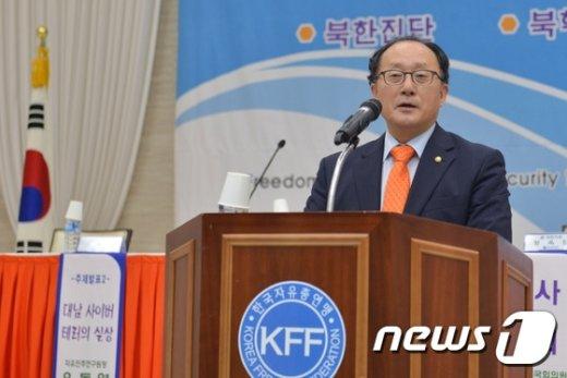 [사진]발언하는 유호열 민주평통수석부의장