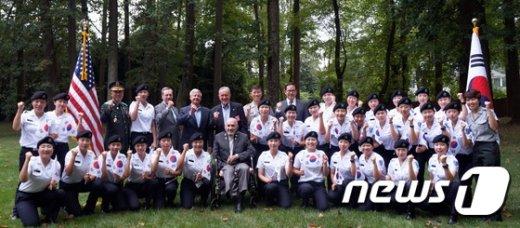 [사진]성신여대 학군단, 美 참전 용사 대상 봉사활동