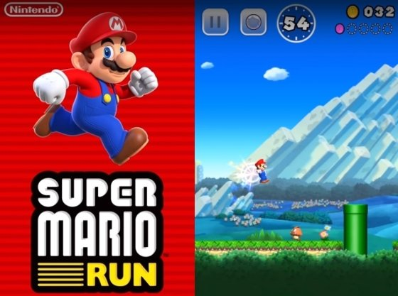 닌텐도가 오는 12월 애플 앱스토어를 통해 출시하는 모바일게임 '슈퍼 마리오 런'/사진제공=애플