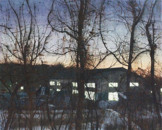 '공장의 노을(Glow of factory)', 180 x 230cm, 캔버스에 아크릴, 2015년. /사진제공=안경수