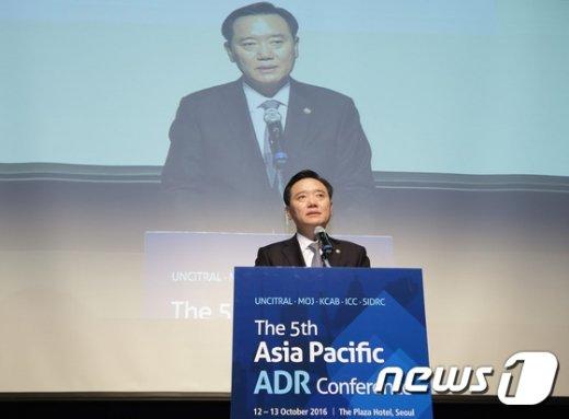 [사진]김현웅 법무장관, 제5회 ADR 콘퍼런스 개회사